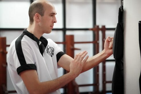 Wing Chun Stootzak Training